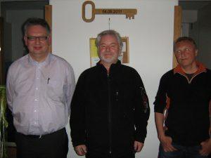 Michael Schmid, Paul Trapp, Michael Mücke ( von links )