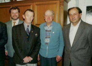V.l.n.r.: Paul Trapp, Franz Freundl, Alfred Georgi, Herbert Bauernfeind (Foto aus den 90ern)